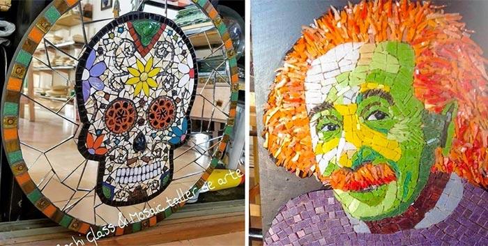 Mosaicos y tiffany: las técnicas