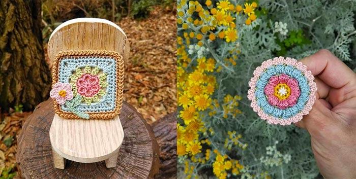 Tejidos al crochet delicados diseños