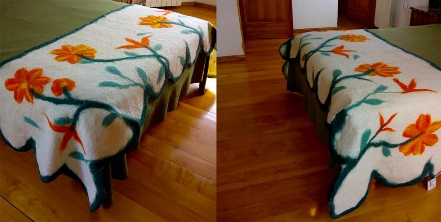 Pie de cama en fieltro